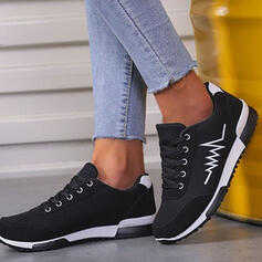 Women's Suede Flat Heel Platform Flats Low Top Sneakers With Lace-up Splice Color Print shoes