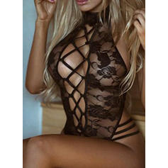 Polyester Spandex Lace Mesh Teddy