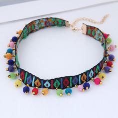 Stilvoll Stoff Legierung Frauen Halsketten