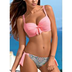 Dot Underwire Strap Sexy Plus Size Bikinis Swimsuits