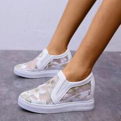Femmes Dentelle PU Décontractée De plein air chaussures
