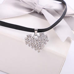Beautiful Alloy Rhinestones Leather Rope With Rhinestone Women's Necklaces (Sold in a single piece)
