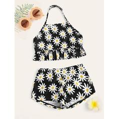 Mommy and Me Floral Print Matching Swimsuit