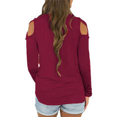 Solid Round Neck Long Sleeves