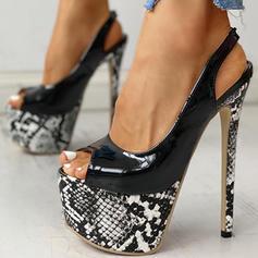 Жіночі ПУ Шпилька Насоси з Тваринний візерунок взуття