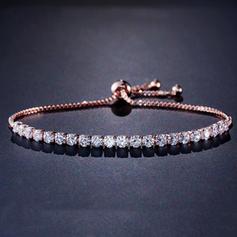 Glänzende Zirkon Kupfer mit Zirkon Frauen Armbänder (Sold in a single piece)