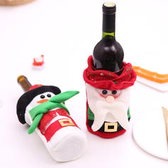 Merry Christmas Snowman Santa Non-Woven Fabric Bottle Cover