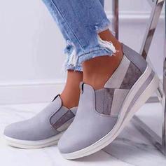 Frauen PU Lässige Kleidung Outdoor mit Gummiband Schuhe