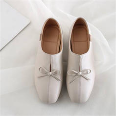 Women's PU Chunky Heel Pumps Mary Jane With Bowknot shoes