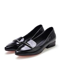 Femmes Cuir verni Talon plat Chaussures plates Bout fermé chaussures