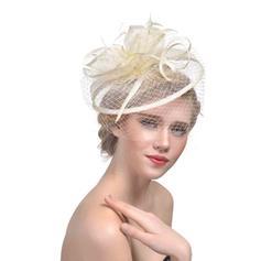 Ladies ' Classic Kambriske med Fjer Fascinators/Tea Party Hats