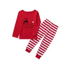 олень В полоску Распечатать Семейное соответствие Рождественская пижама