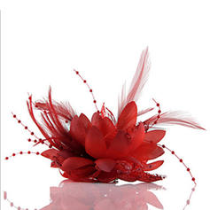 Ladies' Glamourous/Simple/Handmade/Eye-catching Silk Flower Fascinators