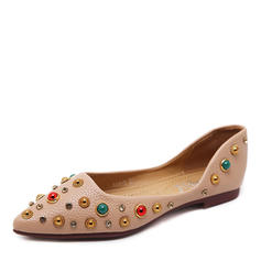 Donna Similpelle Senza tacco Ballerine Punta chiusa con Strass scarpe