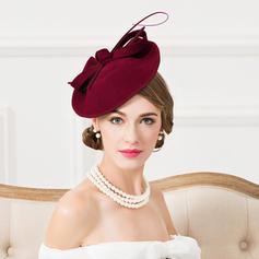 Dames Accrocheur Coton avec Feather Chapeaux de type fascinator/Chapeaux Tea Party