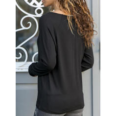 Sequins V-neck Long Sleeves Casual Blouses