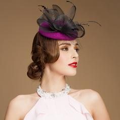 Dames Magnifique Coton/Fil net avec De faux pearl Chapeaux de type fascinator