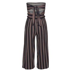 Striped Strapless Sleeveless Casual Vacation Sexy Jumpsuit