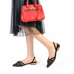 3111f80cf7914 ... Women's Fabric Low Heel Closed Toe Slingbacks With Rhinestone shoes