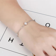Stylish Crystal Copper With Imitation Crystal Fashion Bracelets (Sold in a single piece)