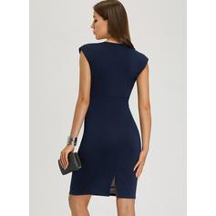 Solid Sleeveless Bodycon Knee Length Sexy/Party/Elegant Dresses