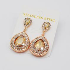 Fashionable Alloy Rhinestones Ladies' Earrings