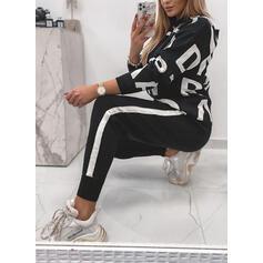 Ριγέ Minta Levél Ανέμελος Επιδεικτικός Plus μέγεθος Σύρσιμο Ρούχα Δύο Κομματιών