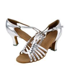 Жіночі Латинський Каблуки Сандалі Шкіра Взуття для спортивно-бальних танців