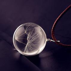 Elegante Vidrio Unisex Collar de la manera