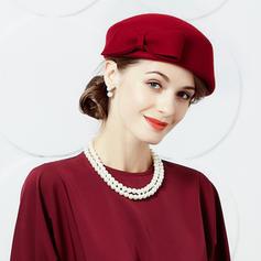 Damer' Enkel/Söt/Hög Kvalitet Ull med Bowknot Basker Hat