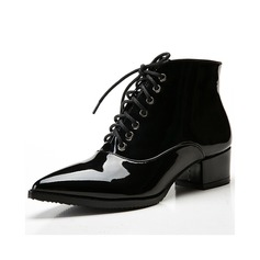 Pentru Femei Piele Breveta Toc jos Încălţăminte cu Toc Înalt Botine pantofi