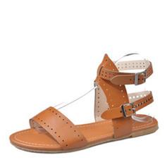Dámské PU Placatý podpatek Sandály Boty Bez Podpatku S otevřenou špičkou S Ostatní obuv