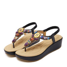 Vrouwen Suede Wedge Heel Wedges met Strass schoenen