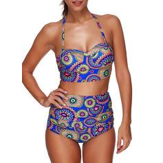 Colorful Armature Dos nu Sexy Bikinis Maillots De Bain