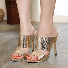 Women's Leatherette Stiletto Heel Sandals Peep Toe Slingbacks shoes