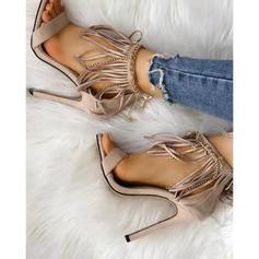Women's PU Stiletto Heel Sandals With Tassel shoes
