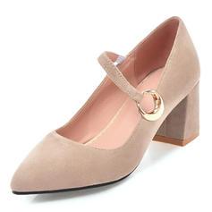 Femmes Suède Talon bottier Escarpins avec Boucle chaussures