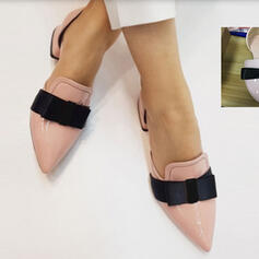 Women's PU Chunky Heel Pointed Toe With Bowknot shoes