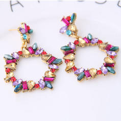 Beautiful Alloy Resin Women's Fashion Earrings (Set of 2)