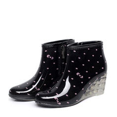 Women's PVC Wedge Heel Wedges Boots Rain Boots shoes