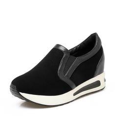 Mulheres Camurça PU Casual Outdoor com Faixa Elástica sapatos