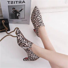 Women's Leatherette Chunky Heel Pumps With Others shoes