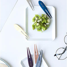 Contemporary Stainless Steel Fruit Fork