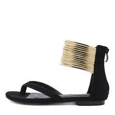 婦人向け スエード フラットヒール とともに ジッパー 靴