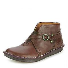 Donna Similpelle Senza tacco Stivali con Rivet Fibbia scarpe
