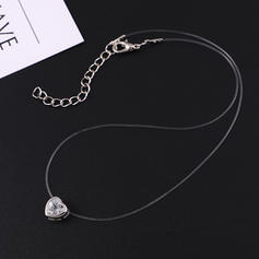 Heart Shaped Alloy Zircon With Zircon Women's Fashion Necklace (Sold in a single piece)