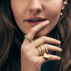 Charming Hottest Alloy With Resin Rings