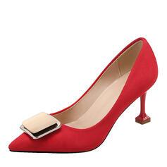Жіночі Замша Шпилька Насоси з Пряжка взуття