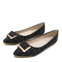 Dla kobiet Material Płaski Obcas Plaskie Zakryte Palce Z Klamra obuwie