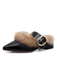 Femmes PU Talon bas Bout fermé Escarpins avec Boucle chaussures